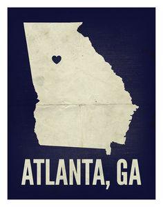 atlanta, ga love print.