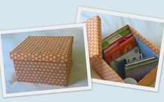 How to make a fabric covered box. (This is for a box that you already like the size of and don't need to tweak at all).