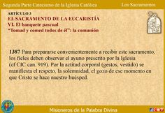 MISIONEROS DE LA PALABRA DIVINA: CATEQUESIS SOBRE LOS SACRAMENTOS - EUCARISTÍA