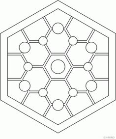 Hexagon Mandala Design 8 > Hexagon Mandalas | 마음놀이터 - 힐링 그리고 성찰