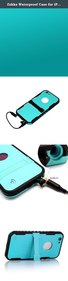Zzkka Waterproof Case for iPhone 6 4.7-Inch Bundle with Headphone Adapter, User Instruction, Cleaning Cloth and Touch Pen - Teal. ★Better Protection For Your IPhone 6.★ Co-found by a group of young Tech Geeks, ZZKKA devotes to offering safe and smart energy,developing fashionable and creative electronics for global customers, focusing on improving customers' on-line shopping experience. ★Guard you to take smartphone anywhere.★ With ZZKKA premium defender Series Case, you don't have to…