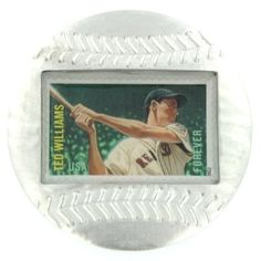 Ted Williams Genuine US Postage Stamp Baseball Paperweight