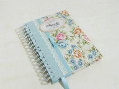 Ag. Noiva - floral CHARME azul | Ateliê Cris Degani | Elo7