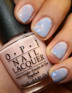 OPI Bubble Room and Lynnderella Forget You Not Glitter Sandwich