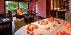 Para 3 personas, con piso caliente: Hab. Romantica El Jardin - Hotel en Baños - Luna Runtun