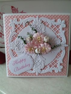 2 Joy Crafts Dies, flowers from Orchid Crafts, Spellbinders label
