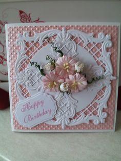 2 Joy Crafts Dies, flowers from Orchid Crafts, Spellbinders label
