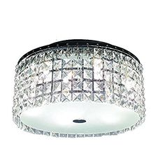 Best Bathroom Light Fixtures   Glam Cobalt 3light Brushed Chrome Ceiling Light by Hampton Bay ** Want additional info? Click on the image. Note:It is Affiliate Link to Amazon.
