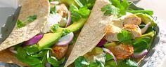 Wrap med avokado, basilikum og kylling - Aperitif.no