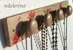 Jewelry Necklace Rack Holder Display Organiser  Red by witchcorner, $38.00