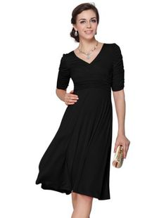 Ever Pretty 3/4 Sleeve Sexy V-neck Short Cocktail Dress 03632, http://www.amazon.com/dp/B00AYA9R96/ref=cm_sw_r_pi_awdm_RHT8sb19N4P5A