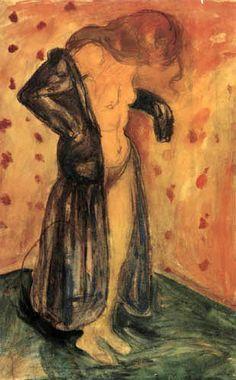 Edvard Munch - Model in Dressing Gown, 1921 Edward Munch, Post Impressionism, Impressionist, Figurative Art, Art And Architecture, Oeuvre D'art, Printmaking, Illustrators, Emil Nolde