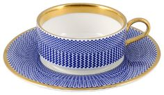 The New English Benday cup and saucer