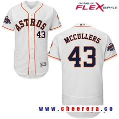 Men's Houston Astros #43 Lance McCullers White Home Majestic Flex Base Stitched 2017 World Series