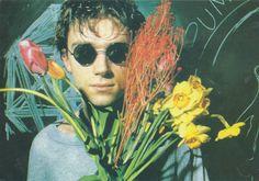 Damon Albarn in flowers