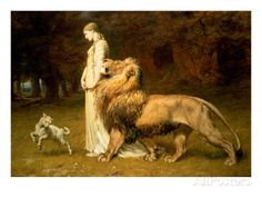 Una and the Lion, from Spenser's Faerie Queene, 1880 Gicléedruk van Briton Riviere