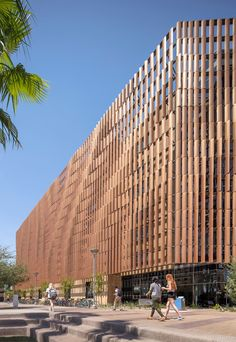 Sandstone and metal louvres wrap student housing complex in Arizona
