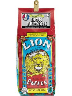 LION Hawaiian Coffee - French Roast - 10oz