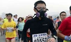 China's former health minister, Chen Zhu, spoke out in January to reveal that between 350,000 and 500,000 people die prematurely each year here as a result of air pollution.  October's Beijing marathon saw many competitors drop out because of the pollution levels.