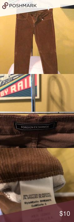 Men's corduroy pants In like-new condition Foreign Exchange Pants Corduroy