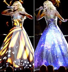 Carrie Underwood Wears LED Dress for Grammys 2013 Performance