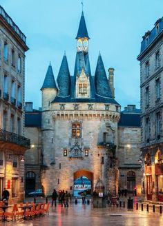 The city gate to  Porte-Cailhau, Bordeaux, France