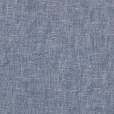 Tissu lin coton bleu