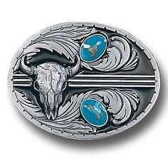"""Checkout our #LicensedGear products FREE SHIPPING + 10% OFF Coupon Code """"Official"""" Stones with Buffalo Skull Enameled Belt Buckle - Officially licensed Siskiyou Originals product Fully cast, metal buckle Bail fits belts up to 2 inches wide Exceptional detail with an enameled finish  - Price: $21.00. Buy now at https://officiallylicensedgear.com/stones-with-buffalo-skull-enameled-belt-buckle-u2e"""