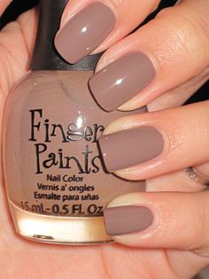 never heard of this brand before the color is Haute-Taupe must try! #nails #nailpolish