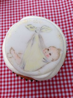 Designed, handmade hand painted by Stace x Baby Cupcake, Cupcake Cakes, Cupcakes, Hand Painted Cakes, Special Delivery, Camembert Cheese, Lady, Breakfast, Handmade