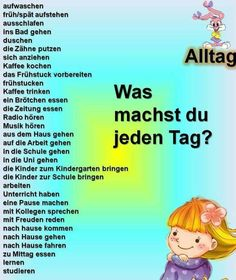 Alltag German Grammar, German Words, German English, Learn English, German Resources, Deutsch Language, Germany Language, Languages Online, German Language Learning