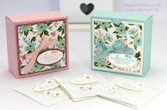 Stampin' Up! Demonstrator Pootles - Pretty Box for 3x3 cards... Or for Soaps!