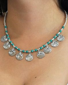 Ocean whisperer is a lovely necklace with sea shell charms and beautiful beach vibes. It's a fabulous piece to add some color to your everyday dresses. Handmade Wire Jewelry, Beaded Jewelry Designs, Necklace Lengths, Beaded Necklace, Beaded Bracelets, Making Bracelets, Jewelry Making, Necklaces, Gothic Jewelry