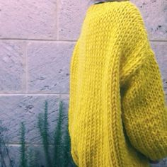 It's pretty out there but Im loving The Cardigan in yellow!