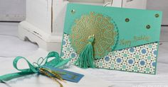 Hello Dear Friends!  Today I am sharing a Birthday Card and Envelope made with the retiring Moroccan Suite collection. I really love the Mor...