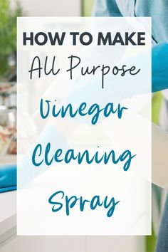 DIY Vinegar Cleaning Spray - SAVE $$ and Stop Buying Cleaners Now!