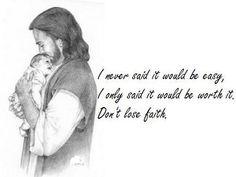 Don't lose faith...