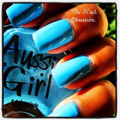 This colour takes you to any exotic island you can dream of!!   Wearing The Blue Lake @aussiegirlcosmetics