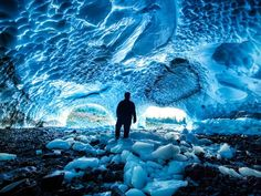 Big Four Ice Caves, Washington: One of the most popular attractions in Mount Baker-Snoqualmie National Forest, and only a short drive from Seattle, these caves are formed in a perennial pile of avalanche debris on the north face of Big Four Mountain which is kept from melting by the mountain's shadow. Streams formed by the summer melt carve the caves out of the ice..
