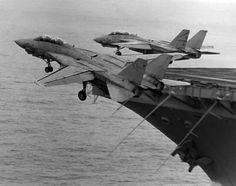Dual F14 Tomcat carrier launch