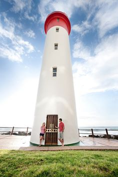 Engagement Shoot with lighthouse and blue sky Engagement Pictures, Engagement Shoots, Couple Photography, Engagement Photography, Lighthouse Photos, Couple Shoot, Lighthouses, Weird, Sky