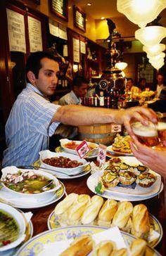 Can't wait to partake in pinxtos culture in San Sebastian. San Sebastian Spain, Asturian, Basque Country, Favorite Recipes, Dishes, Vegetables, Eat, Bar Food, Dot Dot