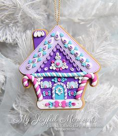 Handcrafted Polymer Clay Gingerbread House от MyJoyfulMoments