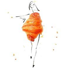 Croissant wrap dress