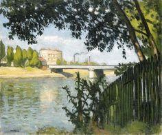 The Billancourt Bridge Albert Marquet - circa 1904 Raoul Dufy, Henri Matisse, Tour Eiffel, Landscape Art, Landscape Paintings, Landscapes, Monet, Maurice De Vlaminck, André Derain