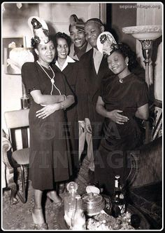 Happy New Years in the 40's / Colored New Years Eve / Sepia: Forgotten Faces | African American Vintage Photographs