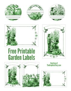 Garden Mason Jar Labels - The Graphics Fairy