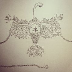 Drawing of a mystical bird