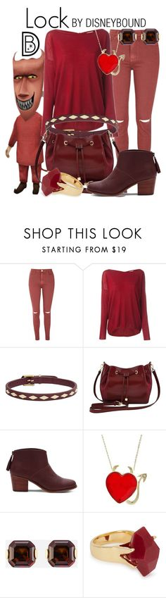"""""""Lock"""" by leslieakay ❤ liked on Polyvore featuring Glamorous, P.A.R.O.S.H., FOSSIL, M&Co, TOMS, Henri Bendel, Lola Rose, Halloween, disney and disneybound"""