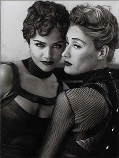 Marie-Sophie Wilson & Helena Christensen by Peter Lindbergh - Montmartre - 1991 - Vogue FR